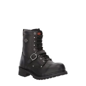 Harley Davidson Leather Motorcycle Ankle Boots